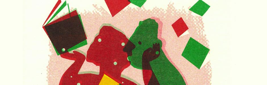 'Geef om boeken' RISO A4 by Gerda Dendooven for Vlaams Fonds voor de Letteren