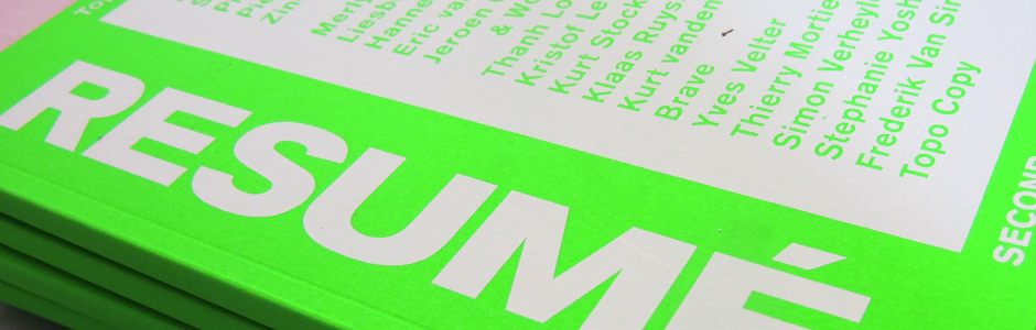 RESUMÉ: a book by Topo Copy about SECONDroom at DOK — A SUNDAY ONLY EXHIBITION BY A DIFFERENT ARTIST