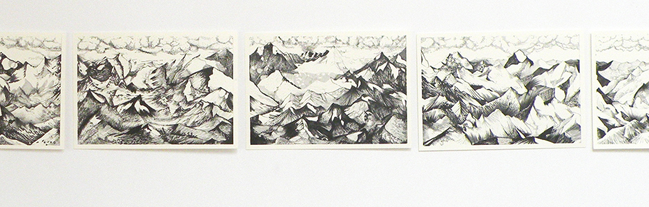 gewoon bergen edition: collaboration with Liesbeth De Stercke — a drawing of just a mountain landscape